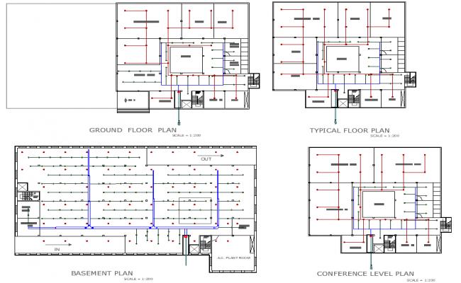 Basement floor to conference floor plan detail