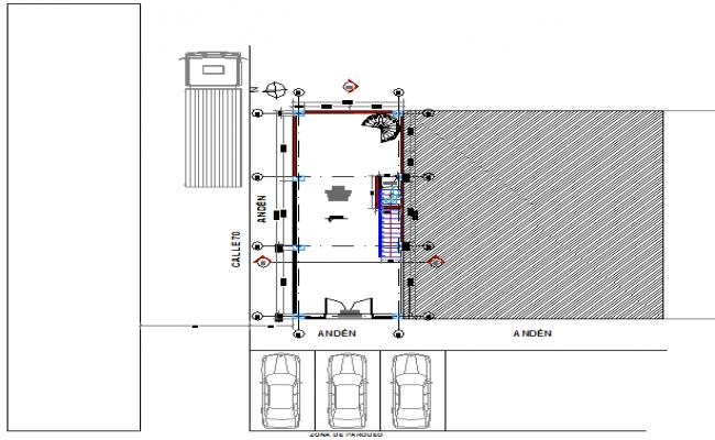 Basement house plan detail dwg file