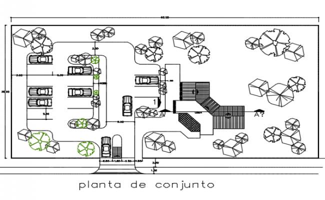 Basement plan detail dwg file