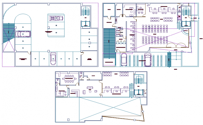 Basement to terrace floor plan detail dwg file
