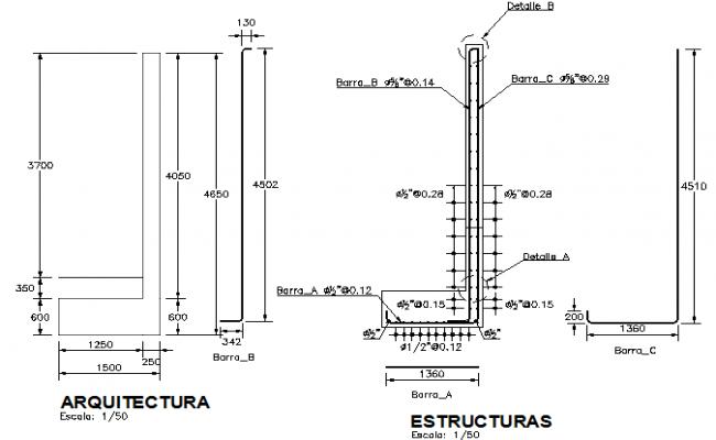Basement wall construction details dwg file