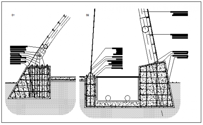 Bases for metal structure design drawing