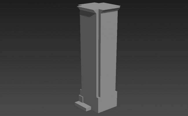 Basic Elevation Of Commercial High Rise Tower 3D MAX File Free