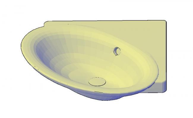 Basin 3d Model In AutoCAD File