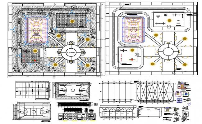 Basketball Stadium Project AutoCAD File