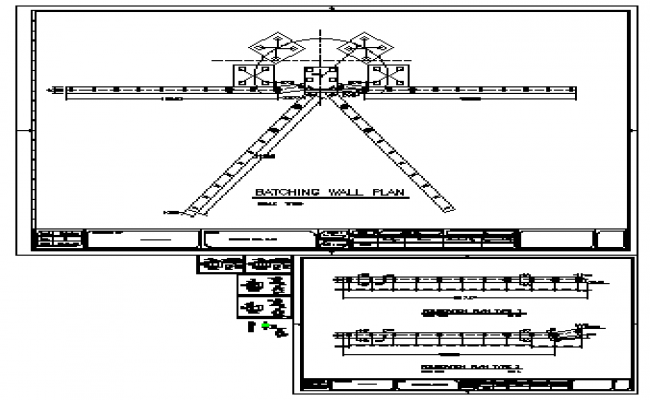 Batching wall plan design drawing