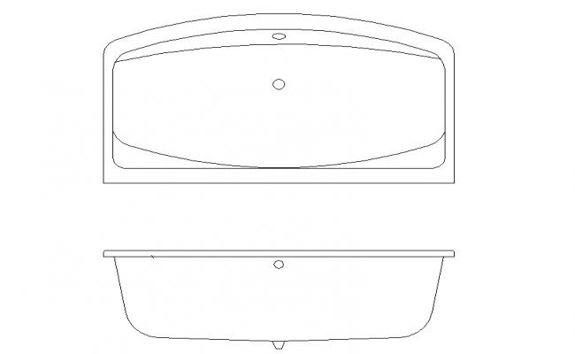 Bath Tub Plan & Elevation Block Detail