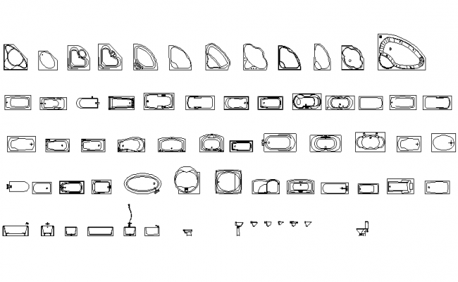 Download Free Bathtub Design In DWG File
