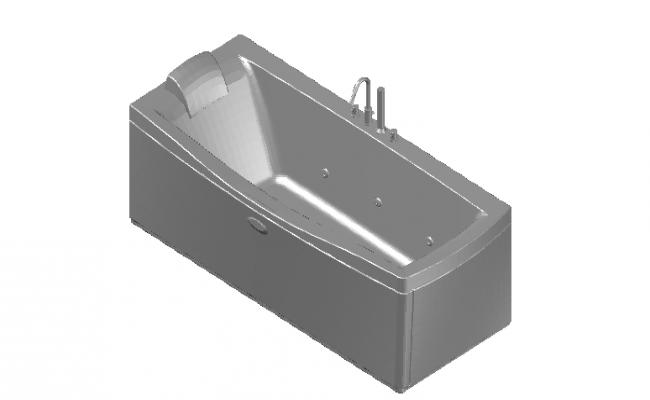 Bath tub spa 3d