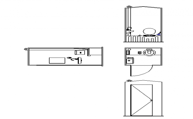 Bathroom DWG file