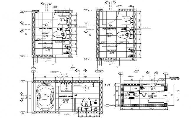 Bathroom Design DWG File