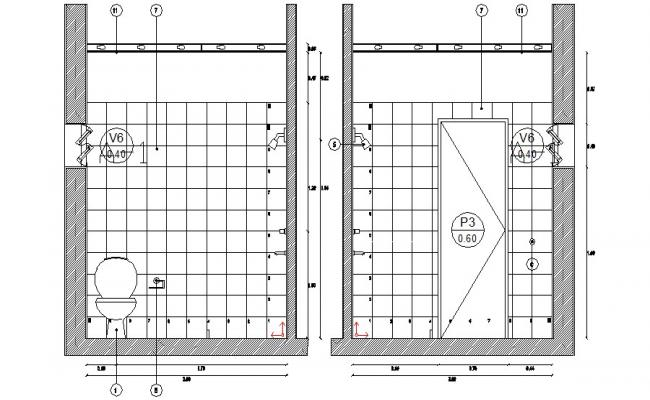 Bathroom Elevation CAD File