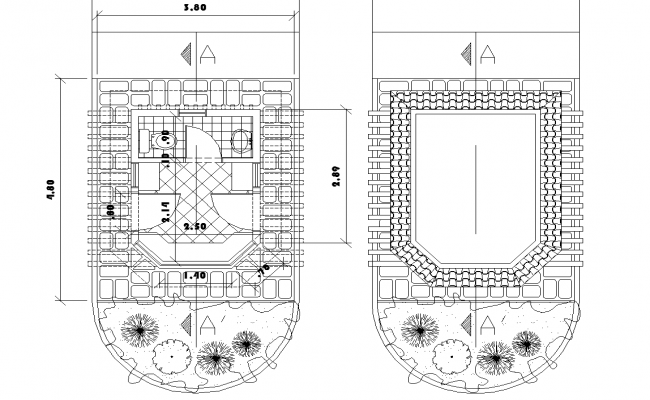Bathroom Layout plan dwg file