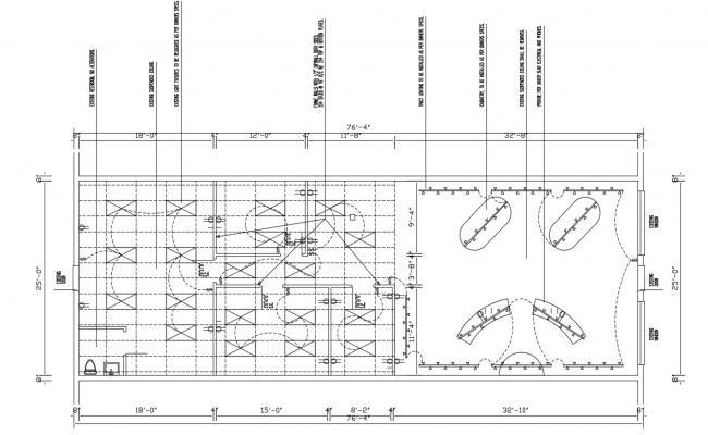 Bathroom Shower Area Design Plan CAD Drawing