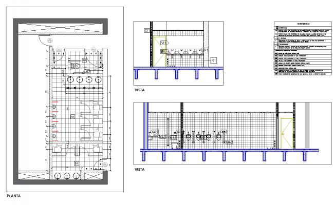 Bathroom architecture civil detail autocad dwg files