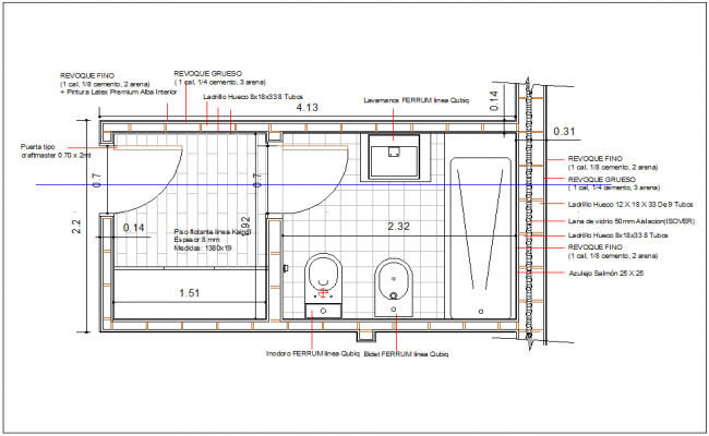 Bathroom Detail Plan View Dwg File