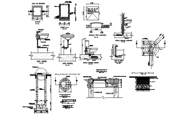 Bathroom fixtures drawing in dwg file