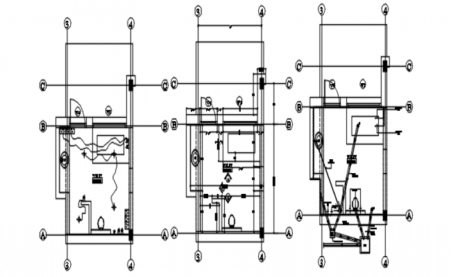 Bathroom layout in AutoCAD