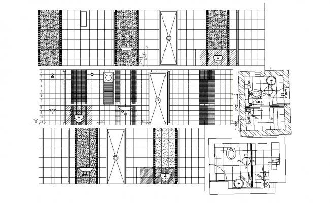 Master Bathroom Layout In DWG File