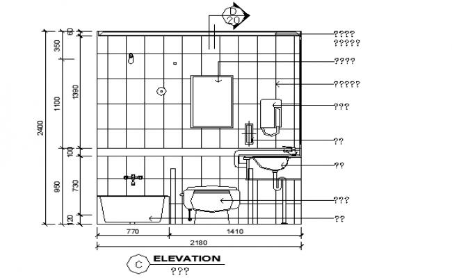 Bathroom plumbing sectional details