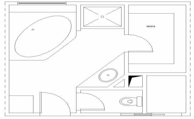Bathroom structure CAD sanitary block 2d view layout file