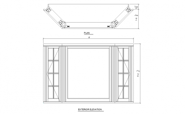 Bay window detail plan detail dwg file for Bay window plan detail