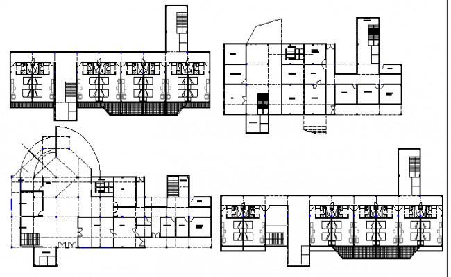 Top view of Hotel plan