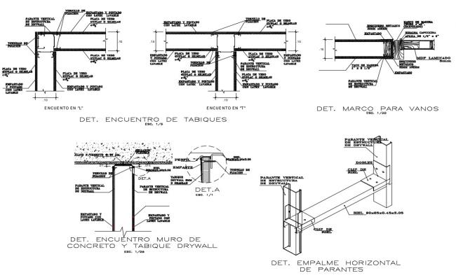 Beam Column Steel Design CAD Structural Drawing