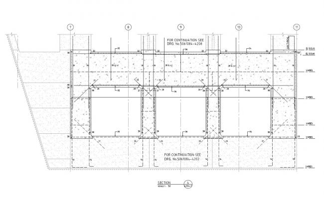 Beam Design Drawing With RCC reinforcement Bars PDF file