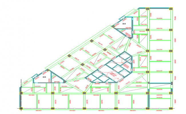 Beam Lay-out detail in cad file