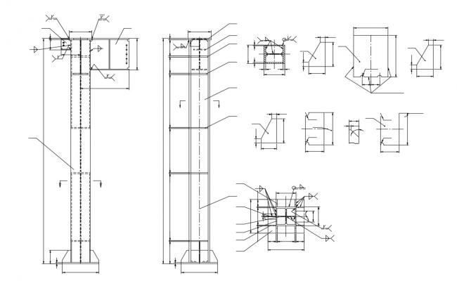 Beam Reinforcement Bar Design AutoCAD Drawing