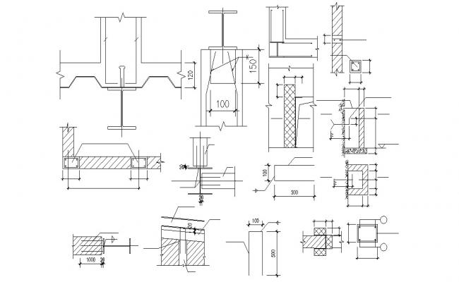 Beam Reinforcement Section Drawing AutoCAD File
