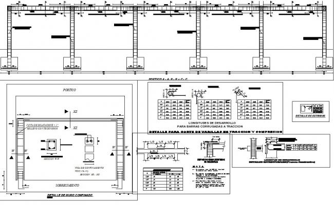 Beam and column detail dwg file