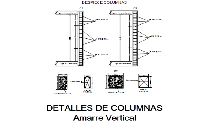 Beam and column plan detail dwg file