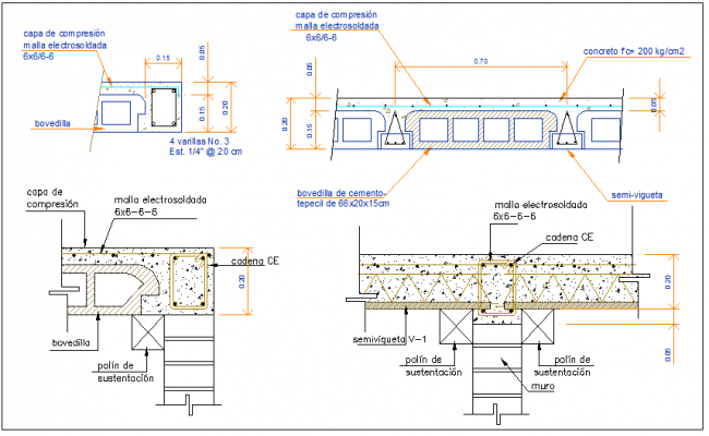 Beam and column structure detail dwg file