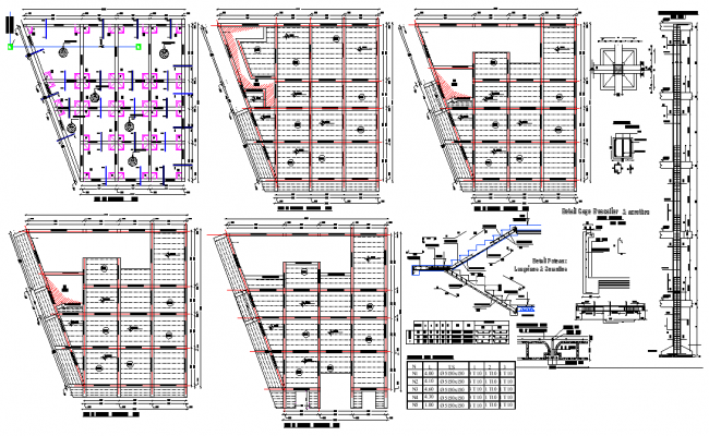 Beam and foundation plan detail dwg file