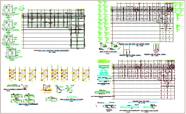 Beam and foundation plan view dwg file