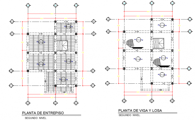 Beam and roof Residential housing layout file