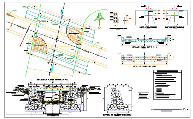Beam bridge details