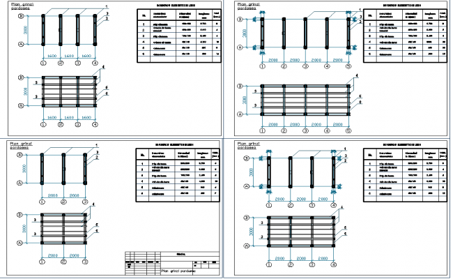 Beam column plan view detail dwg file