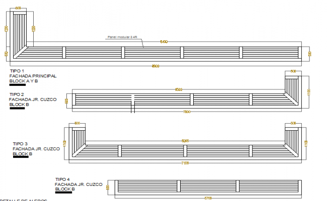 Beam construction details of building dwg file