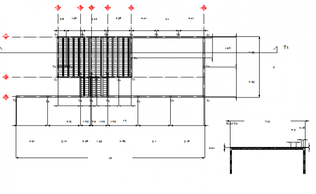Beam construction details with vault dwg file