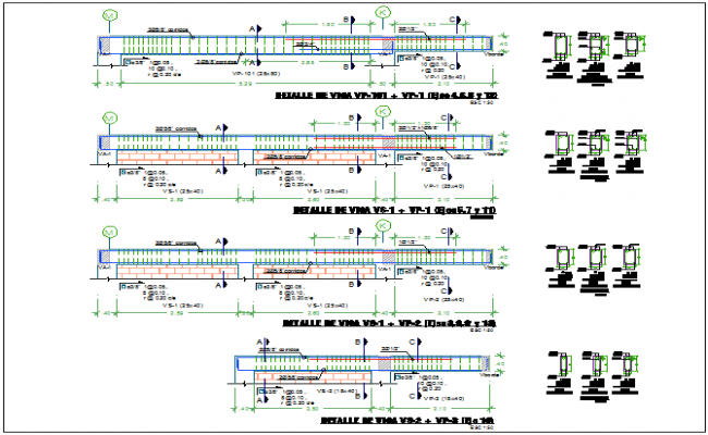 Beam detail view of school with beam section view dwg file