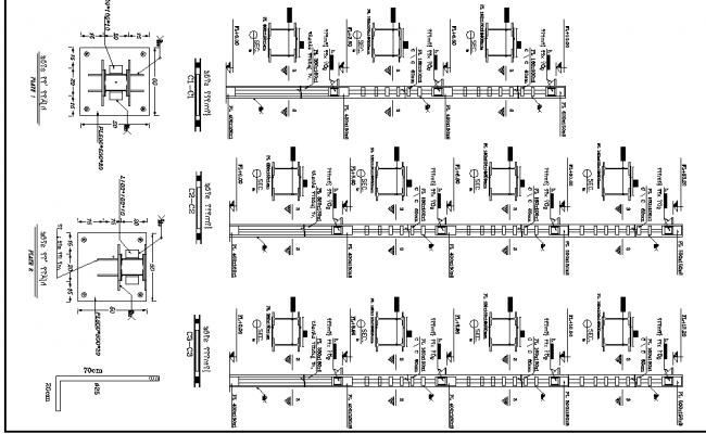 Beam elevation detail dwg file