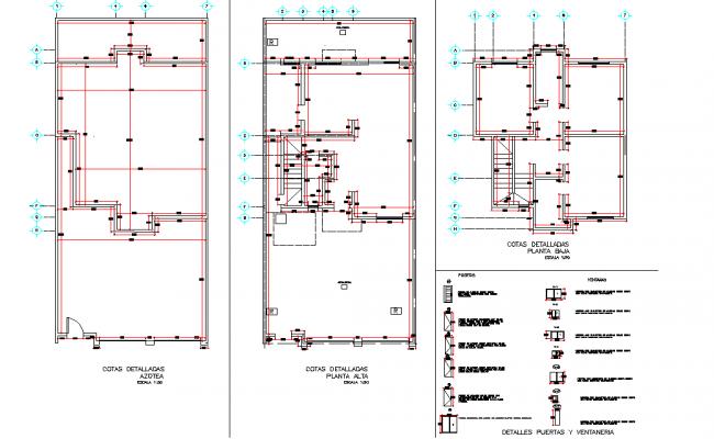 Beam plan and door elevation autocad file