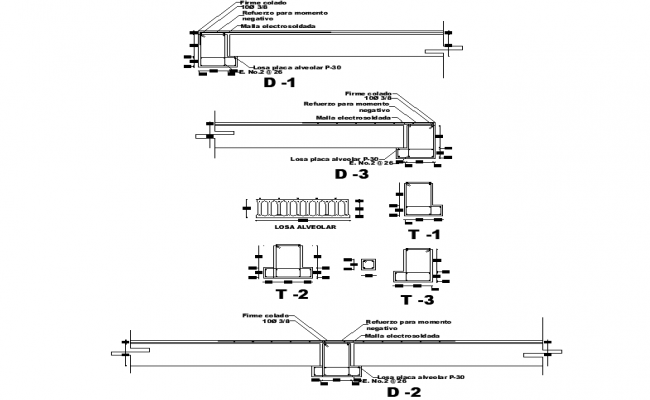 Beam plan and section detail