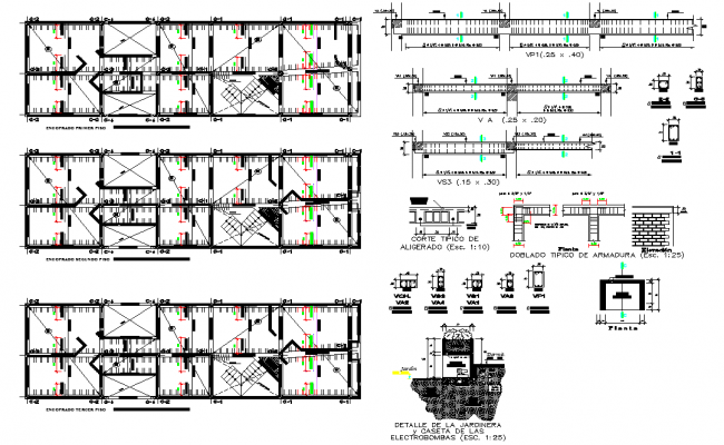 Beam plan and section house layout file