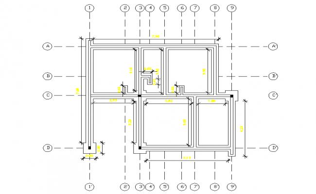 Beam plan detail dwg file