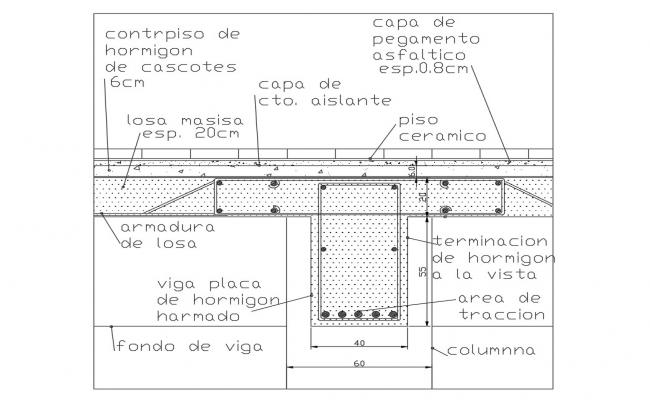 Beam plate construction cad drawing details dwg file