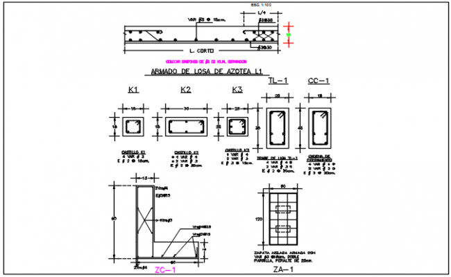 Beam reinforcement detail dwg file